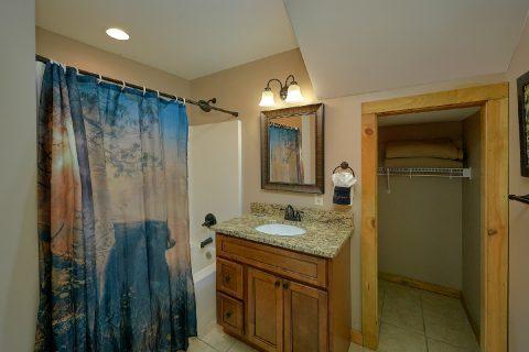 Bathroom with Tub / Shower on Main Level - Bear Paws