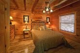 Queen Bed on Main Level of Cabin