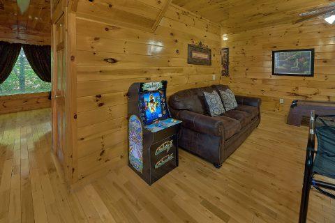 Game Room with Arcade, Pool Table Sofa Sleepers - Bearfoot Haven