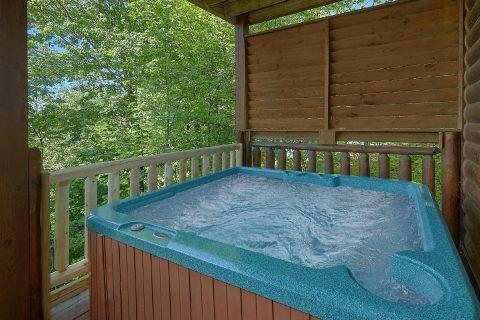Private Hot Tub 2 Bedroom Cabin Sleeps 8 - Bearfoot Haven