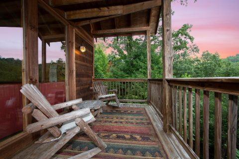 Outdoor Seating with Mountain View - bearHAVEN