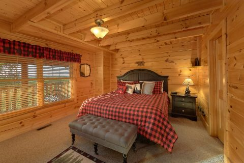 King Bedroom with Connecting Full Bathroom - Bearly Rustic