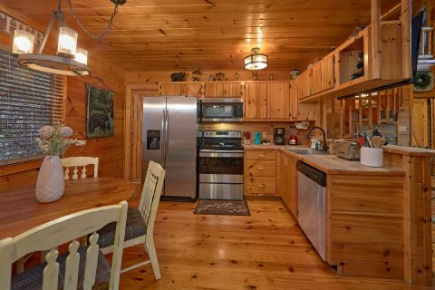 Open Kitchen Floor Plan 2 Bedroom Cabin - Bears Hideaway
