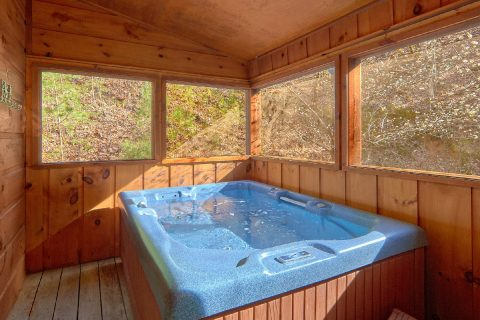 Private 2 Bedroom Cabin with Hot Tub - Bear's Lair