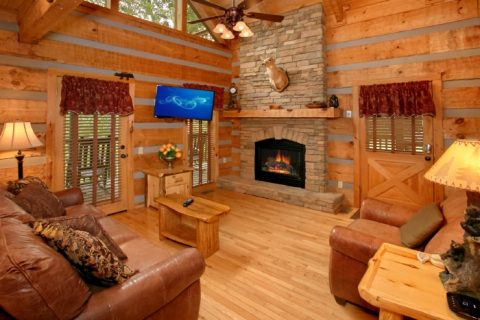 Rustic Cabin with Furnished Living Room - Bearway To Heaven