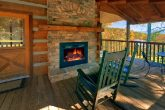 Cabin with outdoor Fireplace and Mountain View
