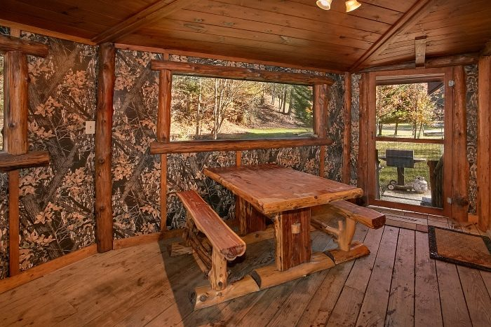 Gatlinburg Cabin with Picnic Table and Hot Tub - Beary Dashing