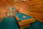 3 Bedroom Cabin with Pool Table in Loft Area