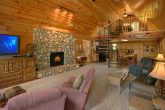Rustic 3 Bedroom Cabin with Stone Fireplace