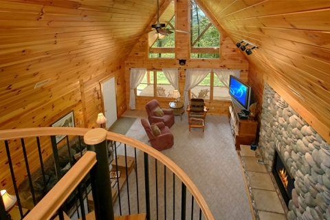 Cabin with Spiral Staircase and Loft Game Room - Big Bear
