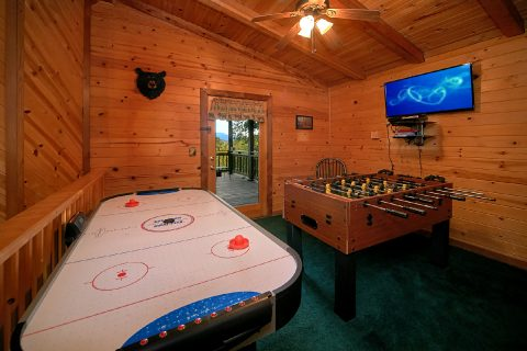Game Room with Foos Ball and Air Hockey - Big Sky View