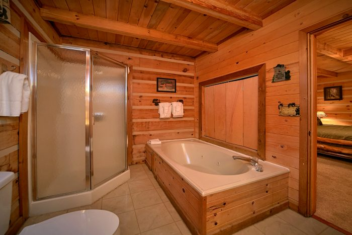 Jacuzzi Tub and Walk-in Shower in Master Suite - Big Sky View