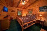 King Bed in Smoky Mountain Cabin Rental