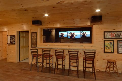 Bar Seating Outside the Theater Room - Big Vista Lodge