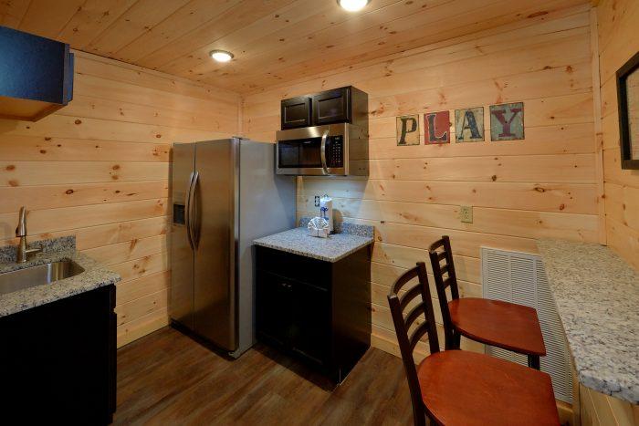 Kitchenette in Game Room - Big Vista Lodge