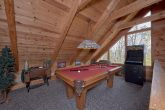 Pool Table Game Room 4 Bedroom Cabin