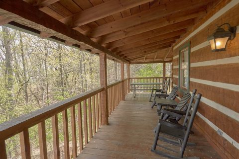 Cover Deck with Views and Rocking Chairs - Black Bear