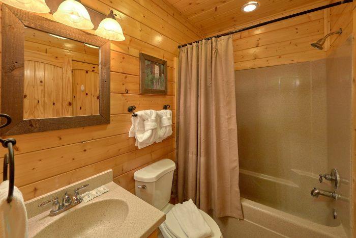 Bathroom with Shower Queen Bedroom - Blue Sky