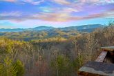 View of the Smoky Mountains from 6 bedroom cabin