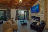 Luxury rental with fireplace in master bedroom