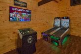 Cabin with Golden Tee Arcade and Skee Ball Games