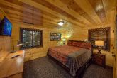 King Bedroom on main level in 5 bedroom cabin