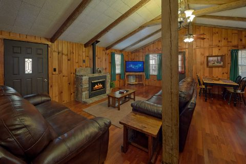 Spacious Living Room with Cable TV and Fireplace - Byrd Nest