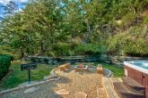 Beautiful outdoor area with Hot Tub and Fire Pit