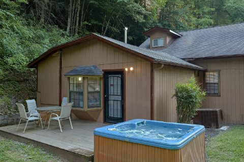 Large Yard and Private Hot Tub 2 Bedroom Cabin - Can't Bear To Leave