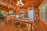 Cabin with spacious kitchen and dining area