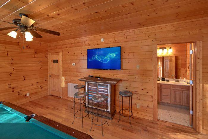 Flat Screen TV in Every Room - Cheeky Chipmunk Getaway