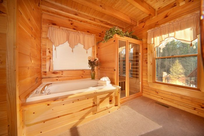 Luxurious 1 Bedroom Cabin with Sauna and Jacuzzi - Cherished Memories