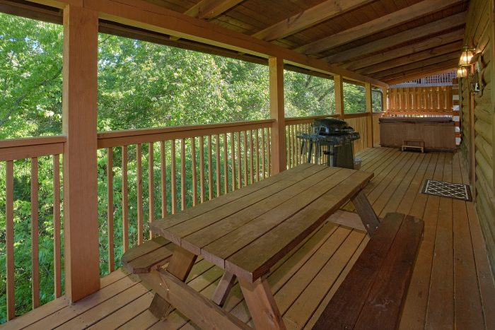 2 Bedroom Cabin with a Grill & Picnic Table - Cherokee Creekside