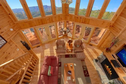 3 Bedroom Cabin with Large View Windows - Cherokee Hilltop
