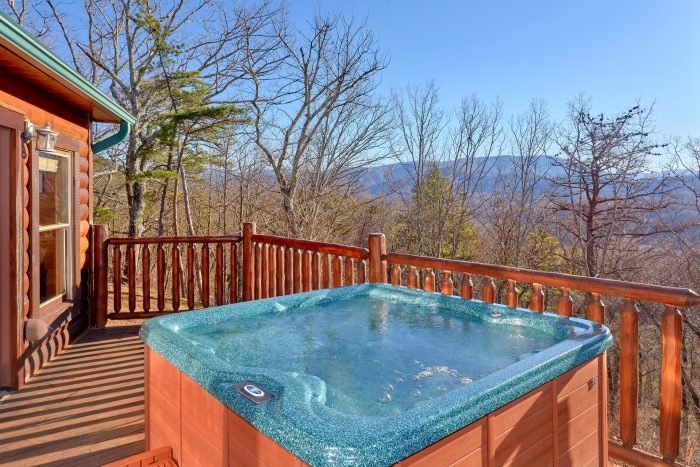 Private Hot Tub with View 3 Bedroom Cabin - Cherokee Hilltop