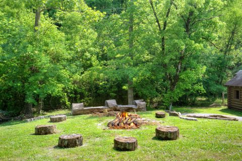 6 Bedroom Cabin with Resort Fire Pit Area - C'Mon Inn