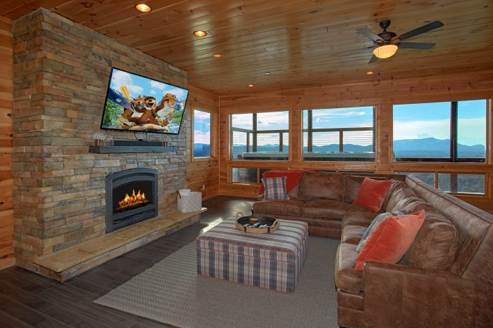 Premium Cabin Rental with 2 Fireplaces and Den - Copper Ridge Lodge