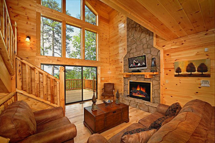 Cabin with Living Room with Views - Could Not Ask For More