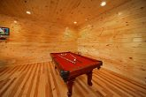 Cabin with Pool Table in Game Room