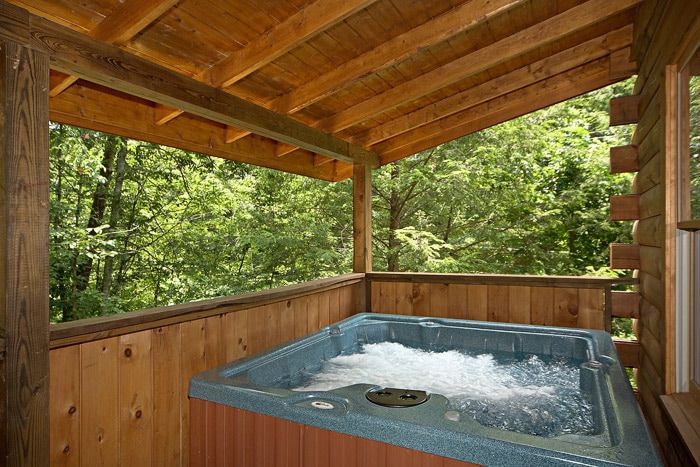 Hot Tub on Back Deck - Cowboy Up