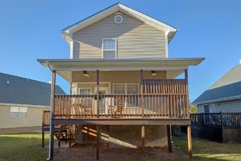 Rocking Chairs on Covered Deck 2 Bedroom - Cozy Cuddles