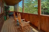 Pigeon Forge cabin rental with hot tub on deck