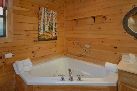 Master Bathroom with Jacuzzi and Shower - Creature Comforts