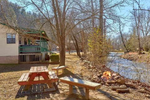 Vacation Home on Walden's Creek with Fire Pit - Creekside Cottage