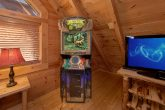 Premium Cabin with Arcade Game in Loft Game Room