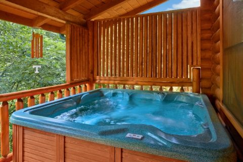 Premium Cabin with Private Hot Tub on Deck - Creekside Hideaway