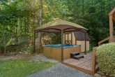 Large Covered Hot Tub with Fire Pit