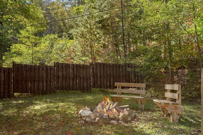 Private 1 Bedroom Cabin with Fire Pit - Cuddles