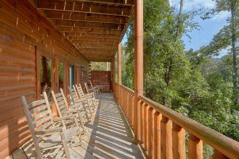 Wooded Views from cabin deck in Hidden Springs - Deer To My Heart