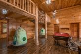 12 bedroom cabin with game room and pool table